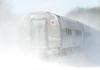 In a cloud of fresh snow, Amtrak 449 heads through MP57, Charlton, MA on the CSX Boston Line. 12/30/2012 - 598C5346dK