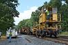 CSX rail train laying ribbon rail just west of MP60, Spencer, MA. 9/5/2012 - 598C0828dK