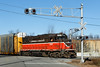 Coming back from New Hampshire today, I heard the P&W approaching the yard in Gardner, MA with a short drag of empty auto racks. 11/6/2012 - 598C3549dK