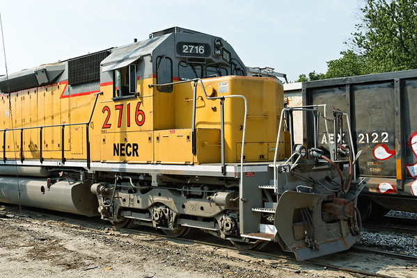 NECR 2716 is on the North end of the rainbow consist in the Palmer, MA yard. 6/22/2012 - 598C9576dK