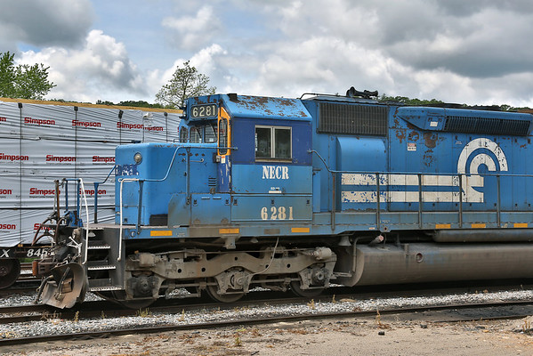 NECR (ex Conrail) 6281 in the NECR yard at MP83, Palmer, MA. 5/23/2012 - 598C7961dK