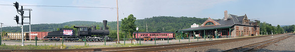 Panoramic view of the Palmer, MA station area from the North side of the tracks. 6/22/2012 - 598C9509a Panorama_aK