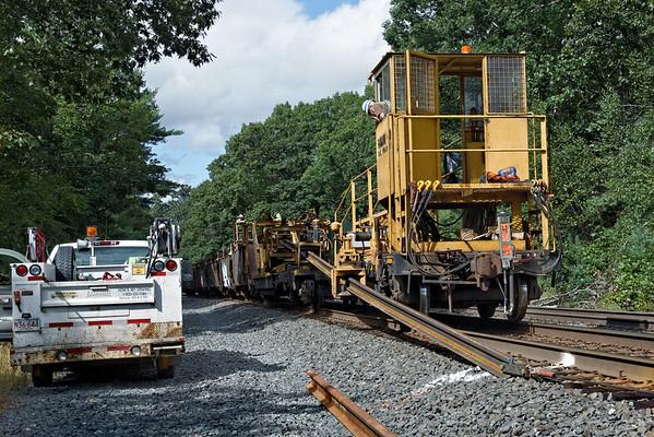 CSX rail train laying ribbon rail just west of MP60, Spencer, MA. 9/5/2012 - 598C0837dK