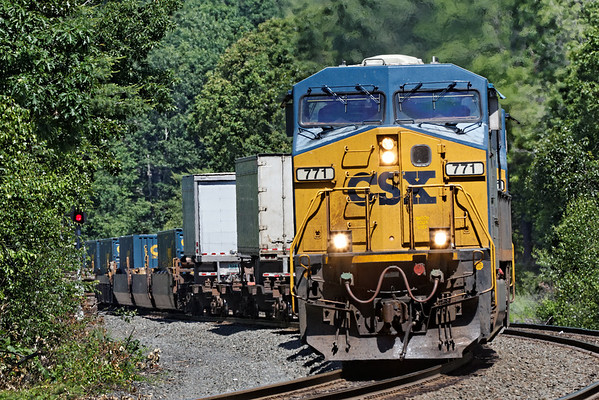 Eastbound UPS/stack train coming through MP60, Spencer, MA on the CSX Boston Line. 6/15/2012 - 598C9301dK
