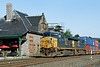 More early morning action in Palmer, MA as a CSX stack train heads East past the Palmer station. 6/24/2012 - 598C9814dK