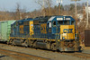 "The CSX ""Springfield Local"" switching in the yard at Palmer, MA. 11-26-2012 - 598C4026dK"