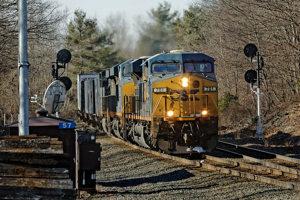 CSX train Q022 pounds through MP57, Charlton, MA mid morning on Christmas Eve. 12/24/2012 - 598C5247dK