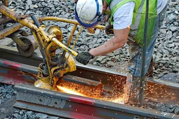 CSX track gang laying ribbon rail at MP57, Charlton, MA on the CSX Boston Line - 9/17/2012 - 598C1567dK