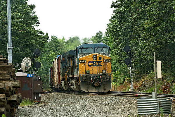 Eastbound freight coming out of the hole and starting up the Charlton Hill at MP57, Charlton, MA on the CSX Boston Line. 7/14/2012 - 598C9138dK