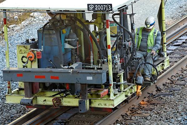 CSX track gang laying ribbon rail at MP57, Charlton, MA on the CSX Boston Line - 9/17/2012 - 598C1534dK