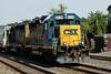 The Springfield local rumbles into Palmer, MA, MP83, on the CSX Boston Line - 8/2/2011.