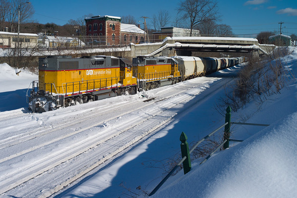 Winter railroading, MP83, Palmer, MA - February 3, 2011<br /> At least the sun was out...11-02-03 no 0485