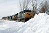 The piles of snow along the tracks just keep growing - 11-01-22 - MP57, Charlton, MA, IMG_0947dK