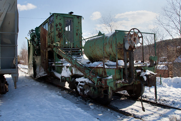 Ancient Jordan Spreader in the NECR yard, Palmer, MA Feb. 10, 2011 - 11-02-10 no IMG_1600