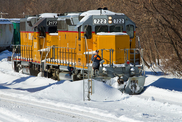 Winter railroading, MP83, Palmer, MA - February 3, 2011<br /> At least the sun was out...11-02-03 no 1107