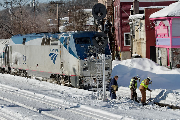 Winter railroading, MP83, Palmer, MA - February 3, 2011<br /> At least the sun was out...11-02-03 no 1142
