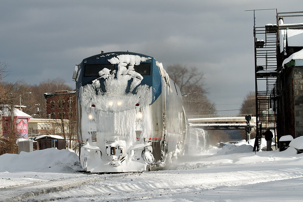 "Amtrak's ""Vermonter"" heads west past the Palmer, MA depot - 11-01-21 - IMG_0927dK"