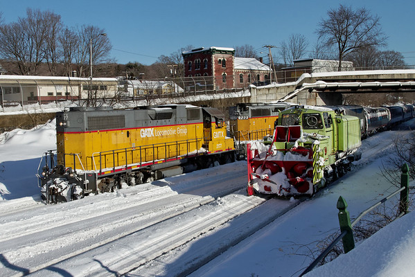 Winter railroading, MP83, Palmer, MA - February 3, 2011<br /> At least the sun was out...11-02-03 no 1167