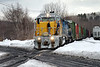 NECR southbound across the diamond at MP83, Palmer, MA 11-02-14 no 1394