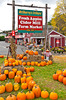 Mc Sherry's Orchard fall fruit stand in Conway, New Hampshire, USA.