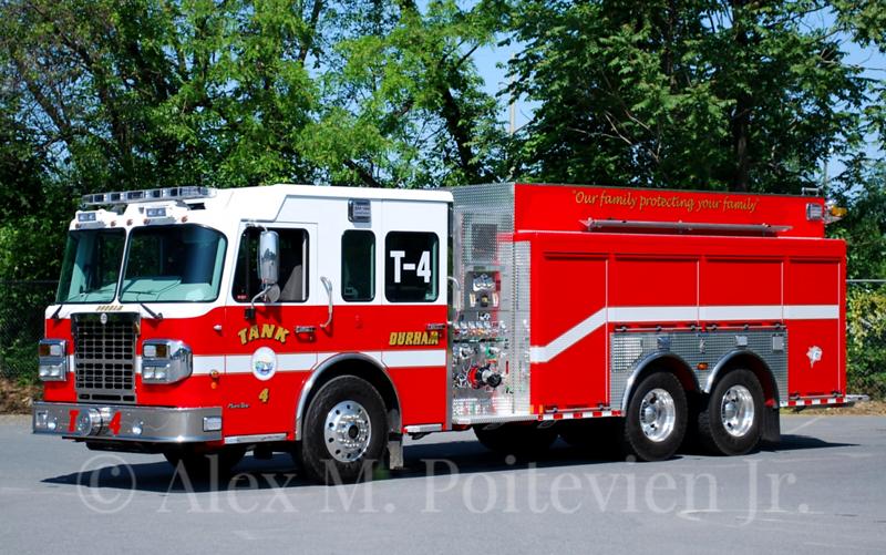 Durham Fire Department<br /> Tank 4<br /> 2012 Spartan/Marion 1500/2500<br /> Photo by: Alex M. Poitevien Jr.