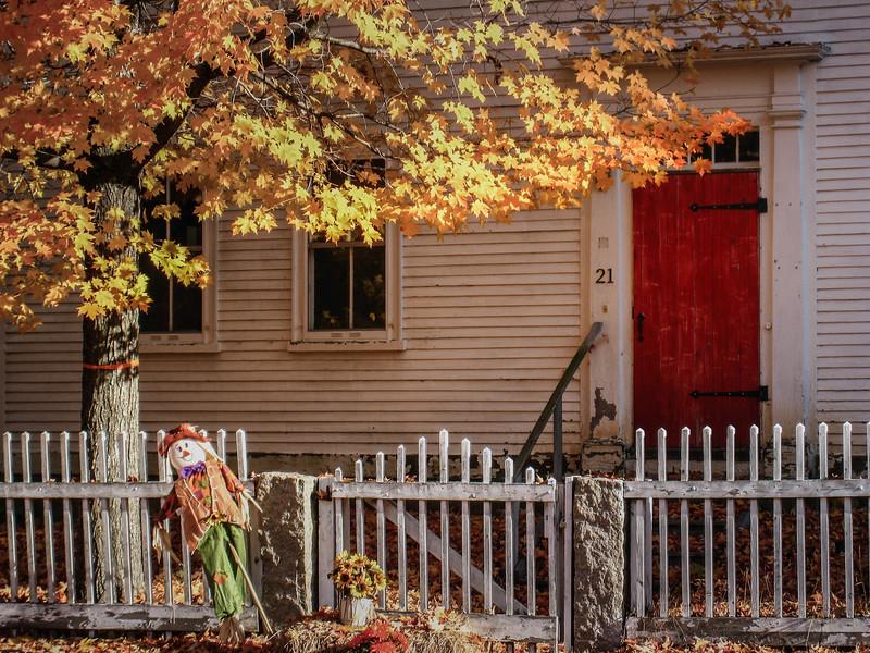 Autumn doorway