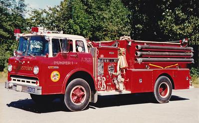 Retired Pumper 1.  Ford / Ward LaFrance.  1000 / 750