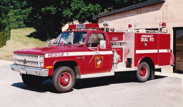 Retired Rescue 1.  1984 Chevy / Saulsbury.  500/300