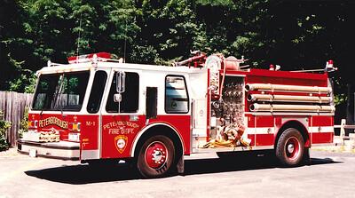 Retired Engine 1.  1985 E-One Hurricane.  1250 / 750