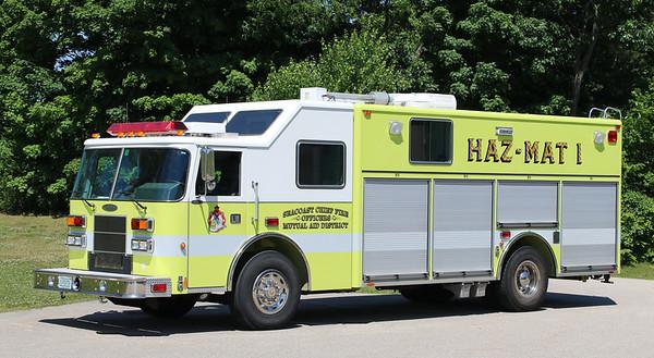 Haz-Mat 1.  1999 Pierce Saber Heavy Rescue