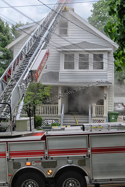 05/25/14 Wallingford, CT - Companies responded to 298-300 Ward St. for a basement fire. First due units found a smoke condition emanating from the basement, multiple lines were stretched and operated. Truck 1 opened up and found extension to the first floor. The fire was held there and knocked down. No one was injured and several people had to seek shelter due damage from the fire.  Photos credited to my wife Sue Duda.