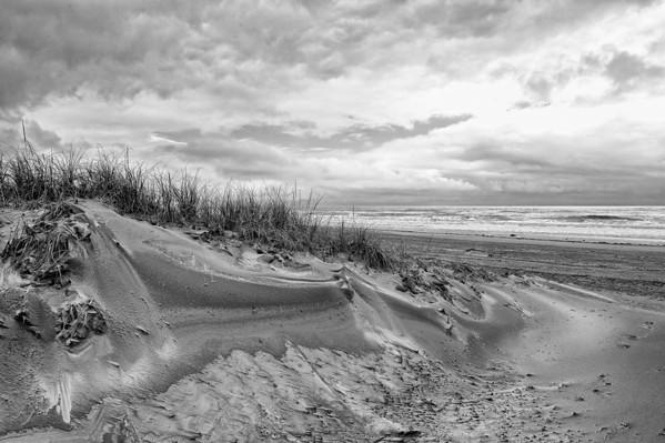 Atlantic City Beach BW