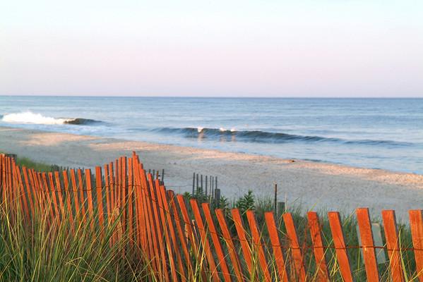 Orange Fenced Seascape 12x18 DSCF9665