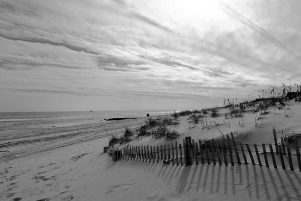 Fence & Dunes B&W 12x18 x3 @200 DSCF0523