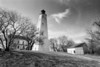 Sandy Hook Lighthouse 2 BW DSC_9422