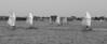 Shark River Sail Race Pano 7x17 B&W DSCF5739