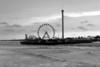 Ferris Wheel & Pier B&W 12x18 DSCF4589