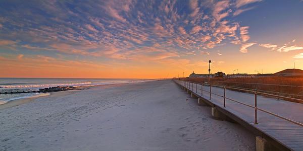 Spring Lake Beach Sunset  2 12x24 6500-01H