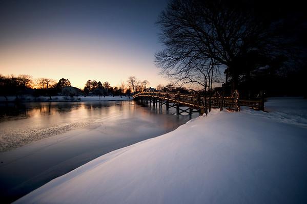 Spring Lake Bridge Glow DSC_7248