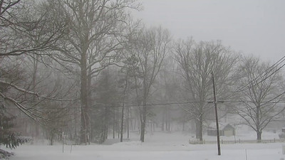 Valentine Snowstorm in Hunterdon County, New Jersey! February 13, 2014; 9am  Most of the snow you see is what's leftover from previous snowfalls.   As of now, there is only an additional 4-5 inches.