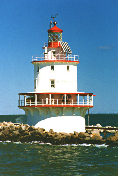 In 1974 the light was the last to be automated in Delaware Bay and the personnel were removed. In 1997 the light was converted to solar power and a modern optic was installed in the lantern. The Fresnel lens was removed and has since been placed on permanent loan to the Baymen's Museum in Tuckerton Seaport, New Jersey for public display. Brandywine Shoal Lighthouse was added to the National Register of Historic Places in 2007. In June 2011 the Coast Guard announced that the lighthouse would be made available though the General Services Administration to an organization willing to preserve the structure.