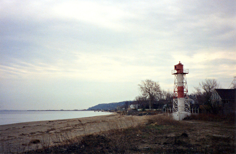Citizens of Keansburg have been circulating a petition to have the lighthouse returned to their town in an attempt to save it,see - http://www.keansburg-historical.org/lighthouse.html  Another group attempted to create the Conover Beacon Lighthouse Preservation Society in 2006, however there was not much response and very little has been done to help the lighthouse other than a paint job.  The Conover Beacon faced its biggest challenge when Hurricane Sandy inundated the tower with seawater and washed the fence surrounding the base out to sea.  But the light continued to stand, and it remains rusting away on the Leonardo beach.