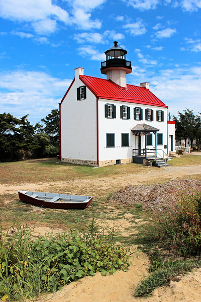 The lighthouse can be reached by driving to the town of Heislerville and driving another 4 miles into marshland where the lighthouse site was constructed on a half-acre knoll rising above the marsh.  This lighthouse is in a constant battle with erosion and hopefully steps  will be taken to save it before it is lost forever.