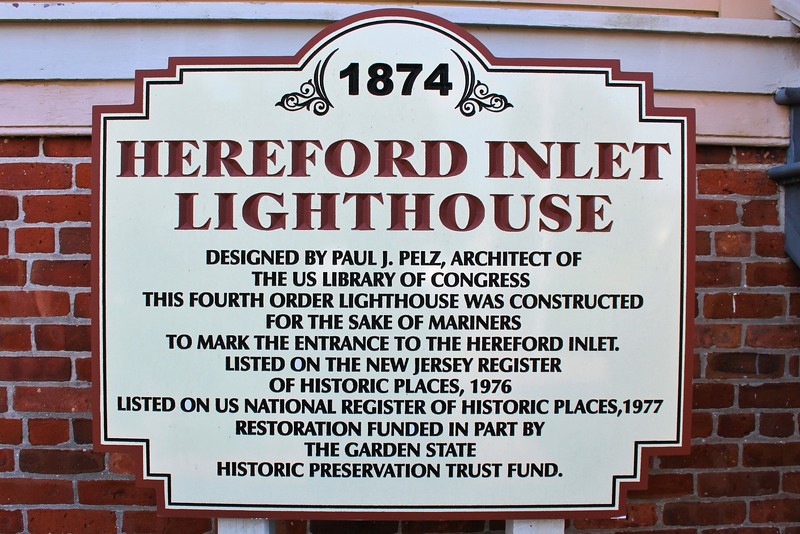 The plans for the lighthouse were drawn up by the chief draftsman of the Lighthouse Board, Paul J. Pelz, whose design was used in several west coast lighthouses as well. Hereford Inlet is the only lighthouse on the east coast using Pelz's Victorian Gothic stick style architecture.