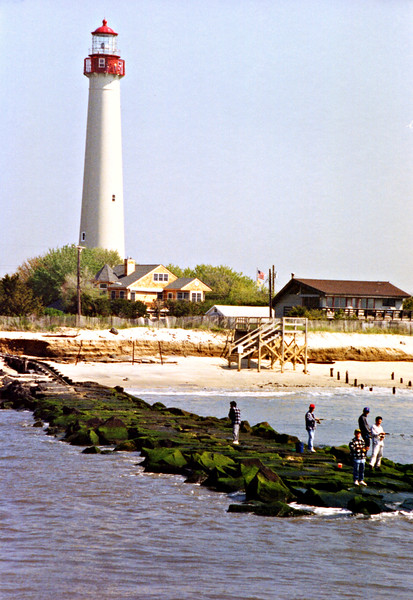 The lighthouse was completed and lit in October 1823.  An inspection report in 1838 stated that there were problems with the settling of the foundation.  In addition, the land around the lighthouse was slowly eroding away so that by 1847 the tower was surrounded by water at high tide.