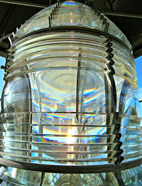 In 1856 a Third Order Fresnel lens was installed in the lantern which remains in service to this day.