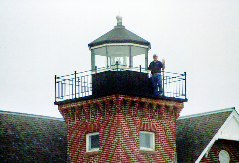 My final (foggy) day giving tours of  the Sea Girt Lighthouse lantern room.  Some day I will return to visit an old friend ! :)