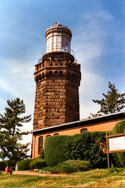 The 1st Order fixed lamps in the new 53 foot towers were lit for the first time on May 1, 1862. Originally they burned lard oil. However, the Navesink Twin Lights were the scene of many lighthouse innovations in the US. In 1883 the north tower became the first lighthouse to use kerosene for its fuel.