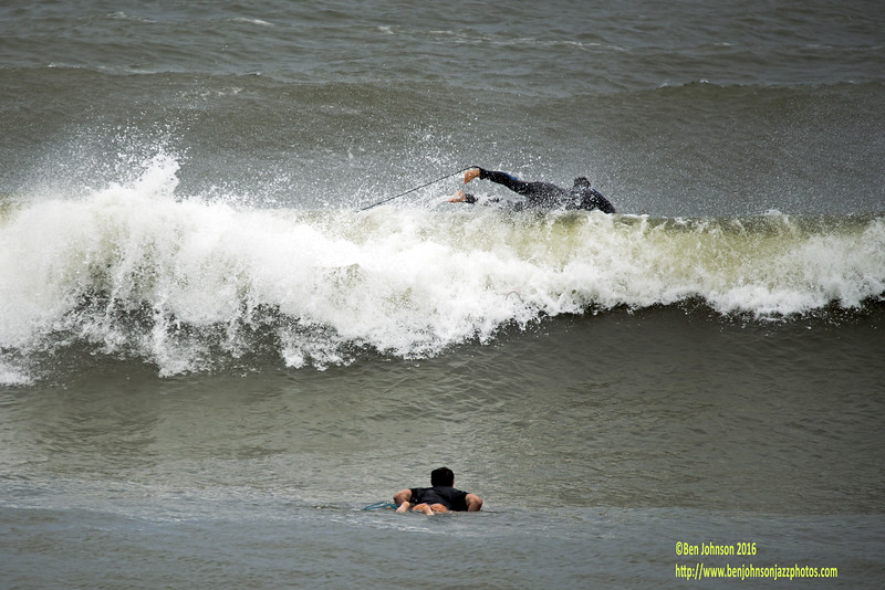 Surfers In Atlantic City New Jersey Off Of The Rhode Island Avenue Beach