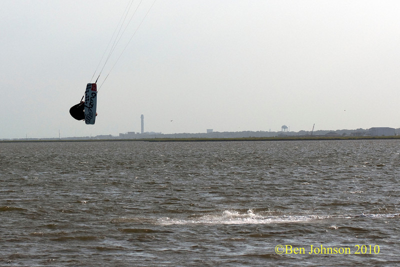 Kite Surfers in Lakes Bay July 28, 2010